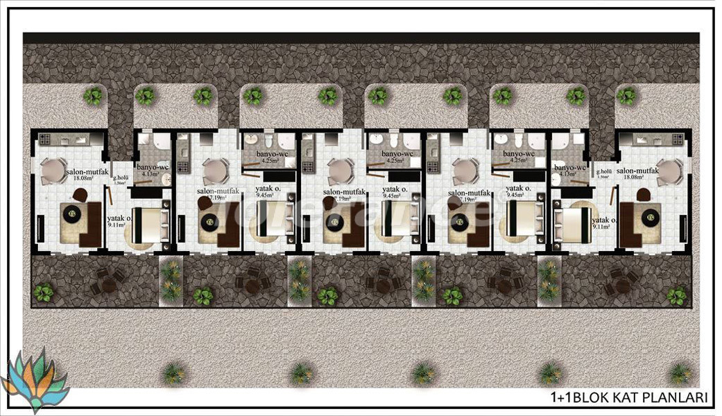 Apartments in Didim with panoramic sea views - 21998   Tolerance Homes