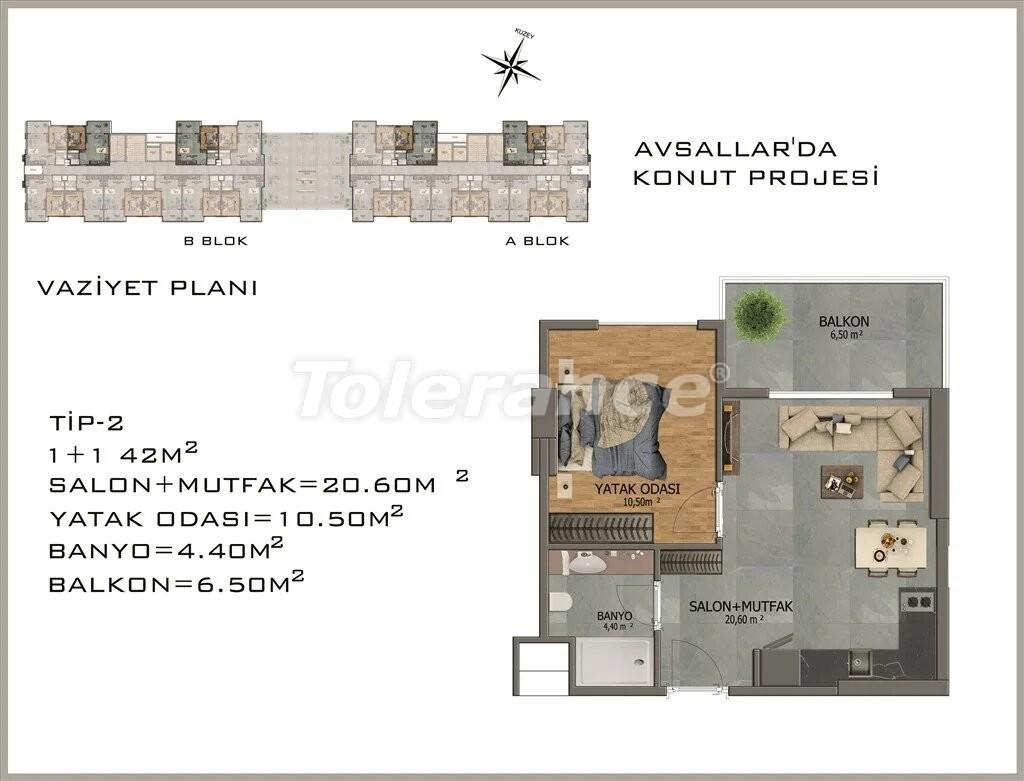 Modern apartments in  Avsallar - 22077 | Tolerance Homes
