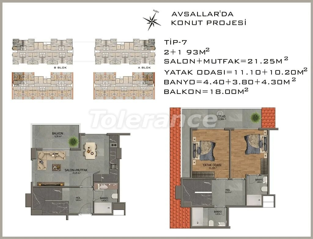 Modern apartments in  Avsallar - 22082 | Tolerance Homes