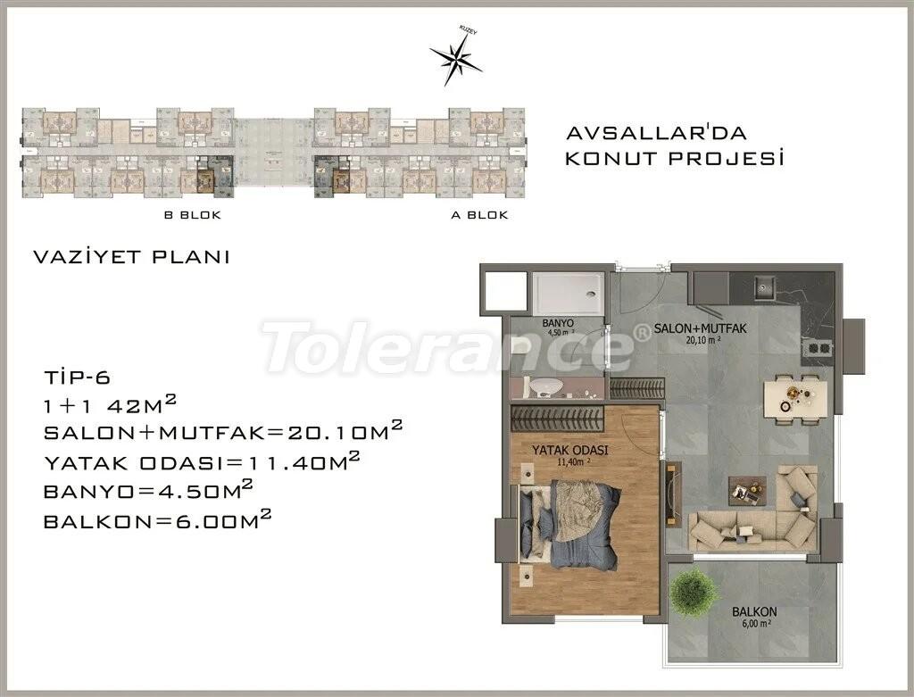 Modern apartments in  Avsallar - 22081 | Tolerance Homes