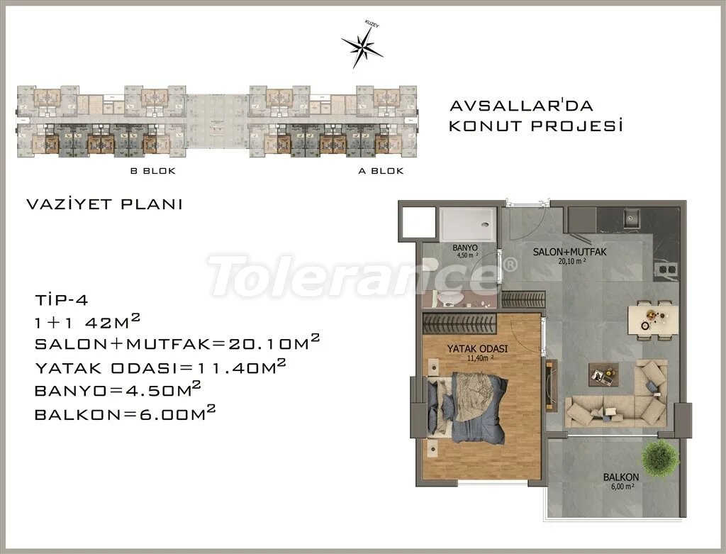 Modern apartments in  Avsallar - 22079 | Tolerance Homes