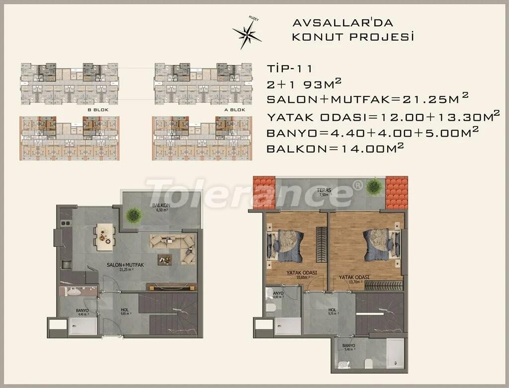 Modern apartments in  Avsallar - 22085 | Tolerance Homes
