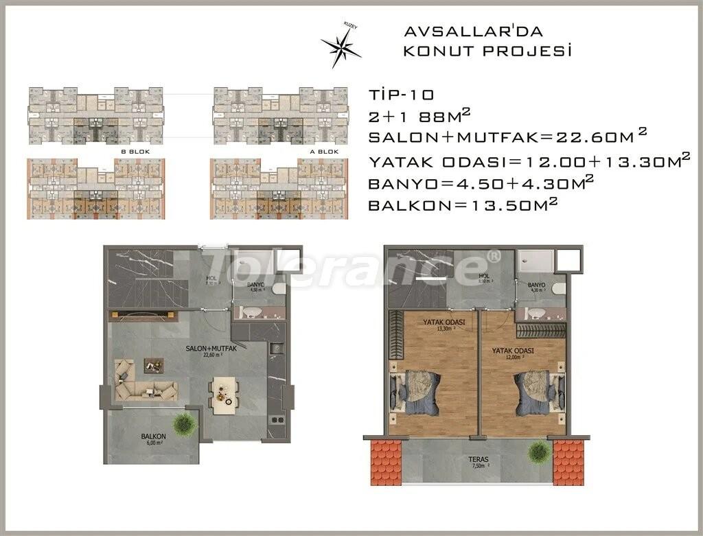Modern apartments in  Avsallar - 22084 | Tolerance Homes