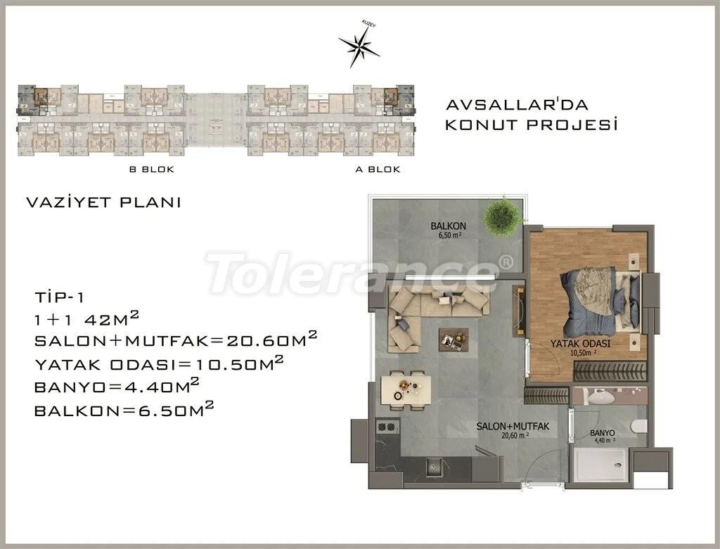 Modern apartments in  Avsallar - 22076 | Tolerance Homes