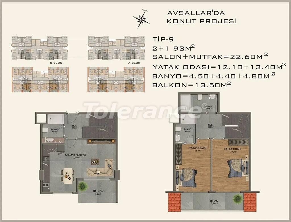 Modern apartments in  Avsallar - 22083 | Tolerance Homes
