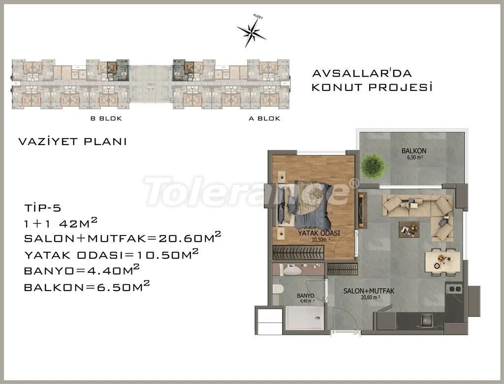 Modern apartments in  Avsallar - 22080 | Tolerance Homes