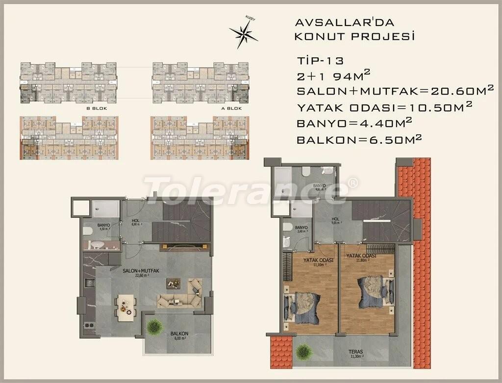 Modern apartments in  Avsallar - 22087 | Tolerance Homes