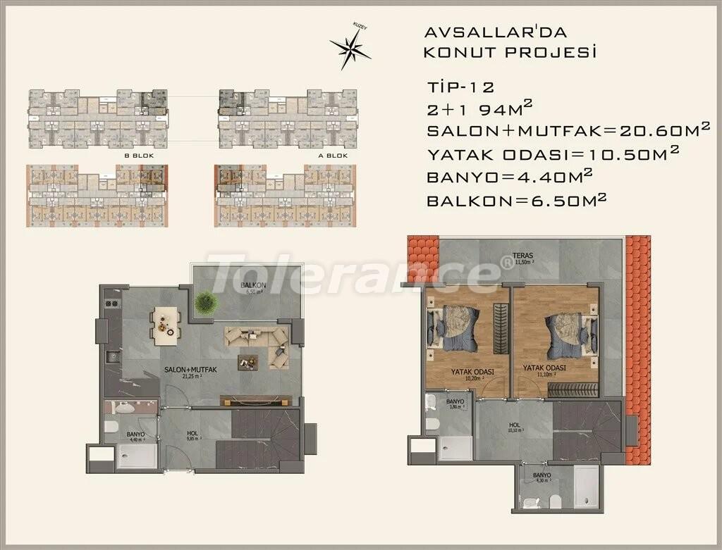 Modern apartments in  Avsallar - 22086 | Tolerance Homes