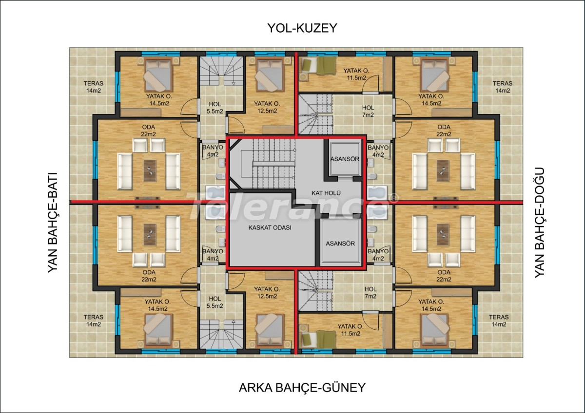 Inexpensive apartments in the center of Antalya from a reliable developer with installments - 22935   Tolerance Homes