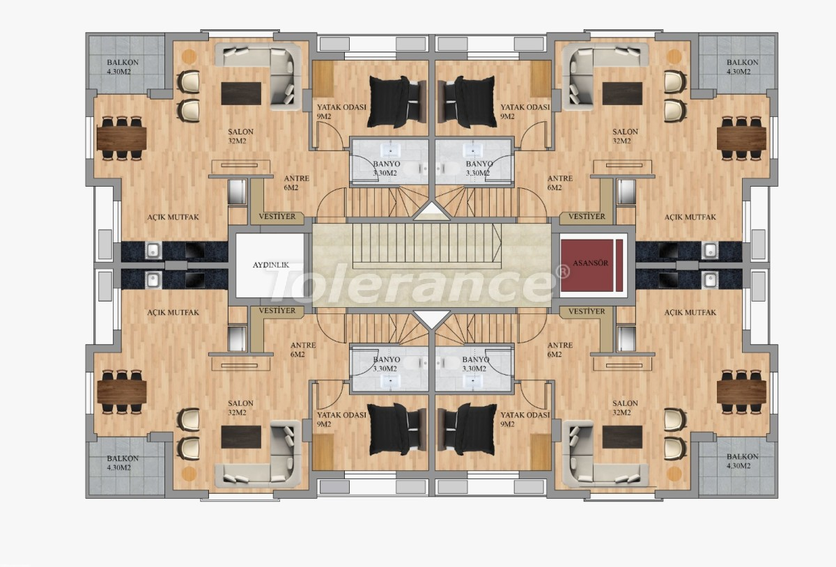 Modern apartments in Hurma, Konyaalti from the developer - 22292 | Tolerance Homes