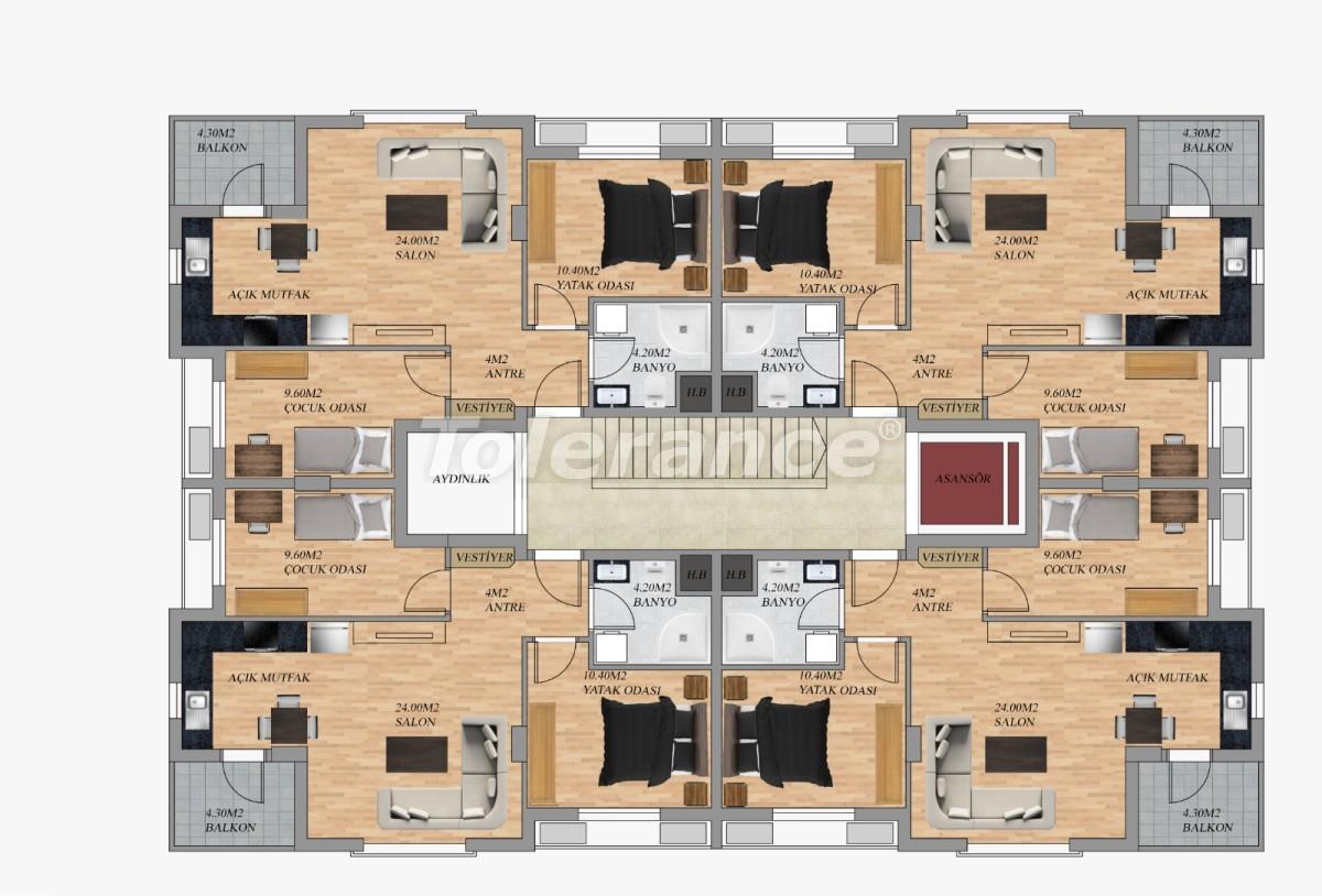 Modern apartments in Hurma, Konyaalti from the developer - 22293 | Tolerance Homes