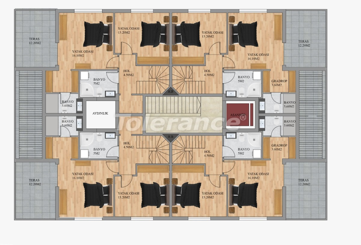 Modern apartments in Hurma, Konyaalti from the developer - 22291 | Tolerance Homes
