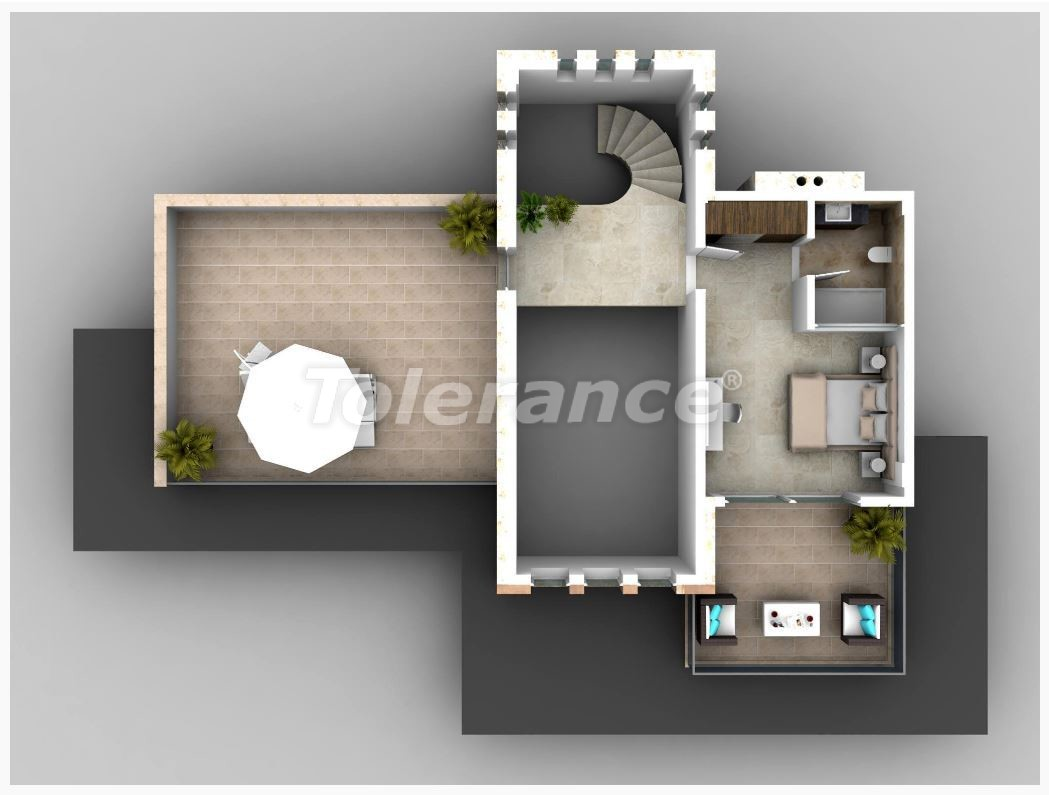 Villa in Kalkan with the splendid sea view and with the guaranteed rental income - 22631 | Tolerance Homes