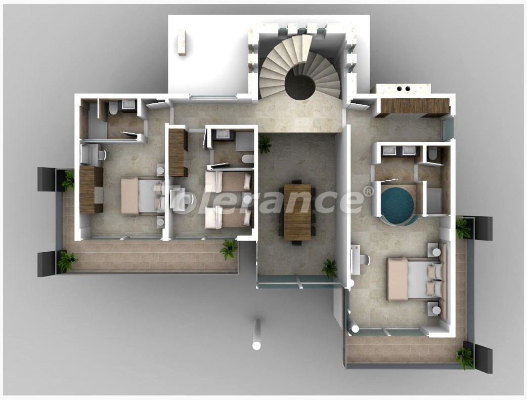 Villa in Kalkan with the splendid sea view and with the guaranteed rental income - 22630 | Tolerance Homes