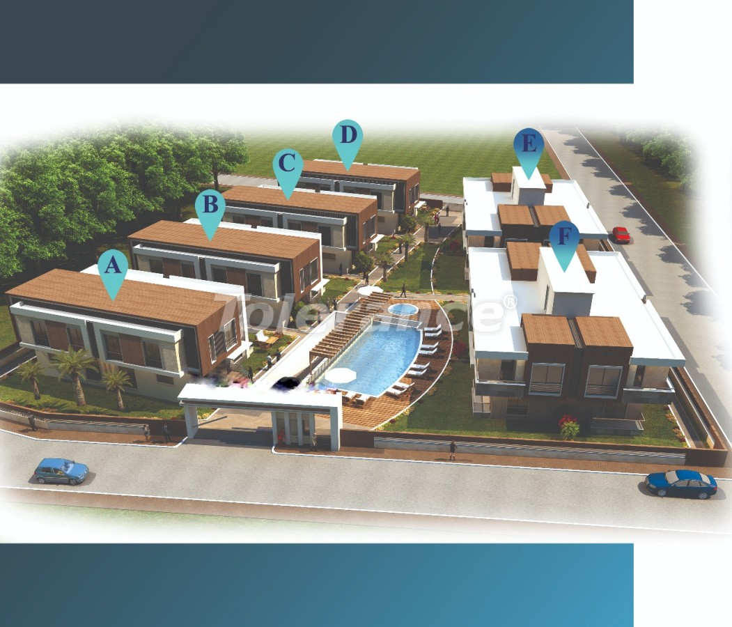 Stylish villas in Lara, Antalya in a complex with an outdoor pool with the possibility of obtaining citizenship - 22717 | Tolerance Homes