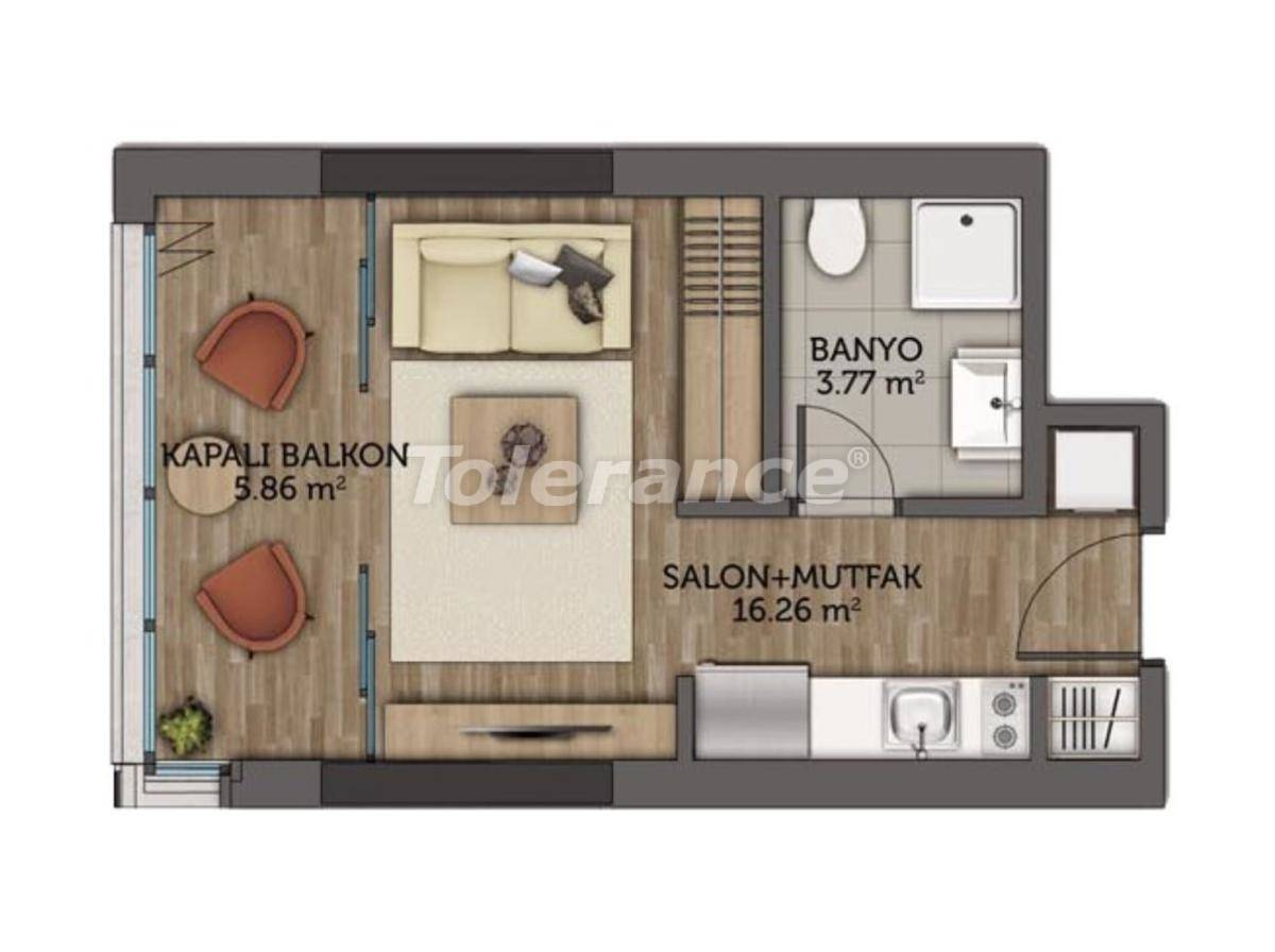 Modern apartments in Istanbul with 3 years rental guarantee from the best developer - 23129 | Tolerance Homes