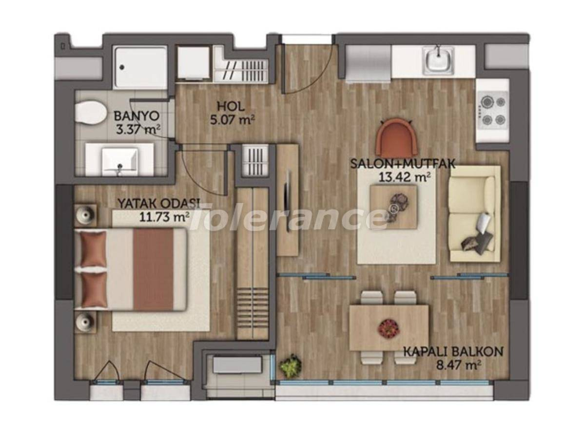 Modern apartments in Istanbul with 5 years rental guarantee from the best developer - 23130 | Tolerance Homes