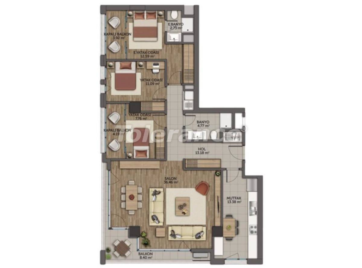 Modern apartments in Istanbul with 3 years rental guarantee from the best developer - 23132   Tolerance Homes