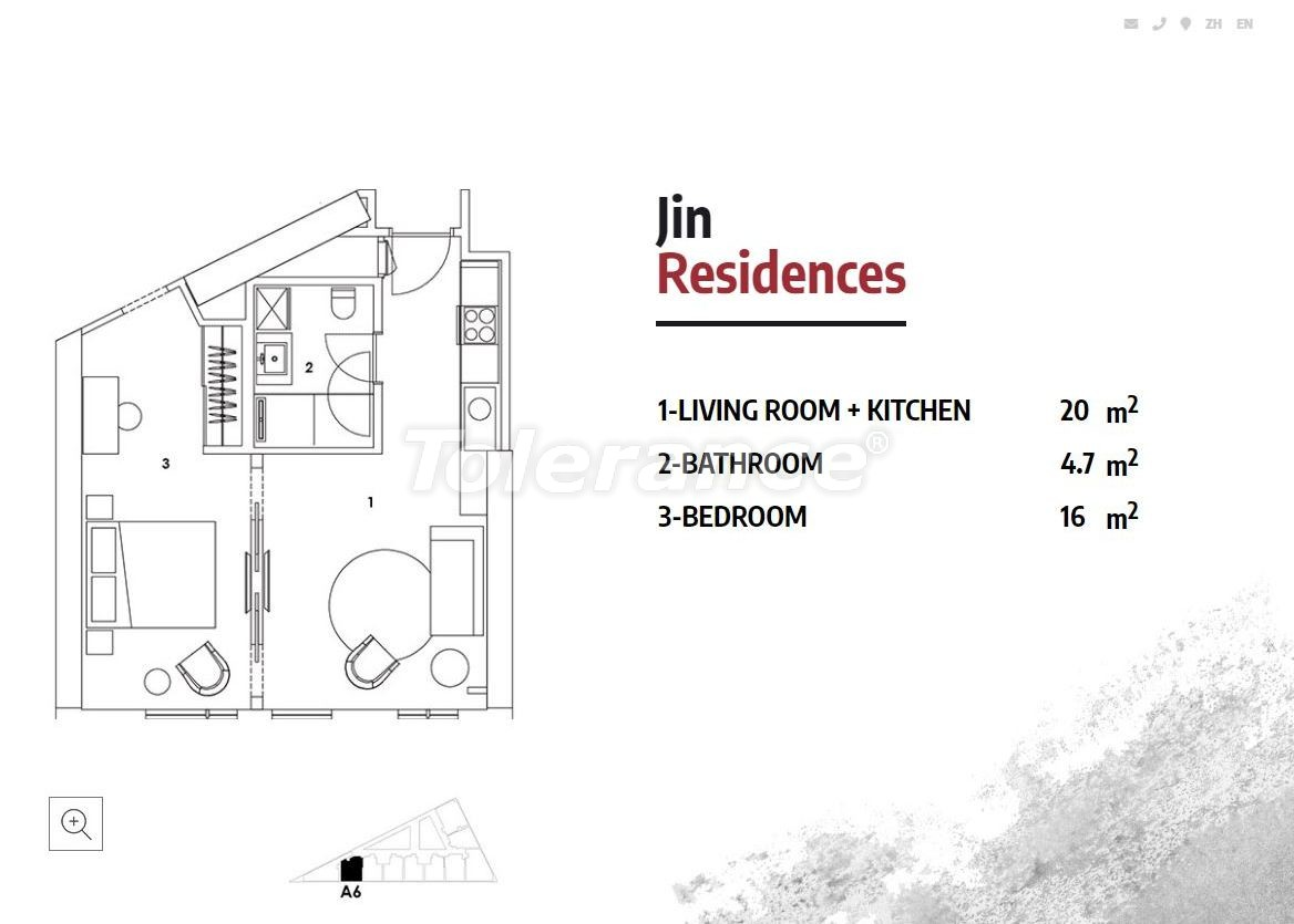 Apartments in Istanbul in a luxury residence hotel with a high rental guarantee - 23367 | Tolerance Homes
