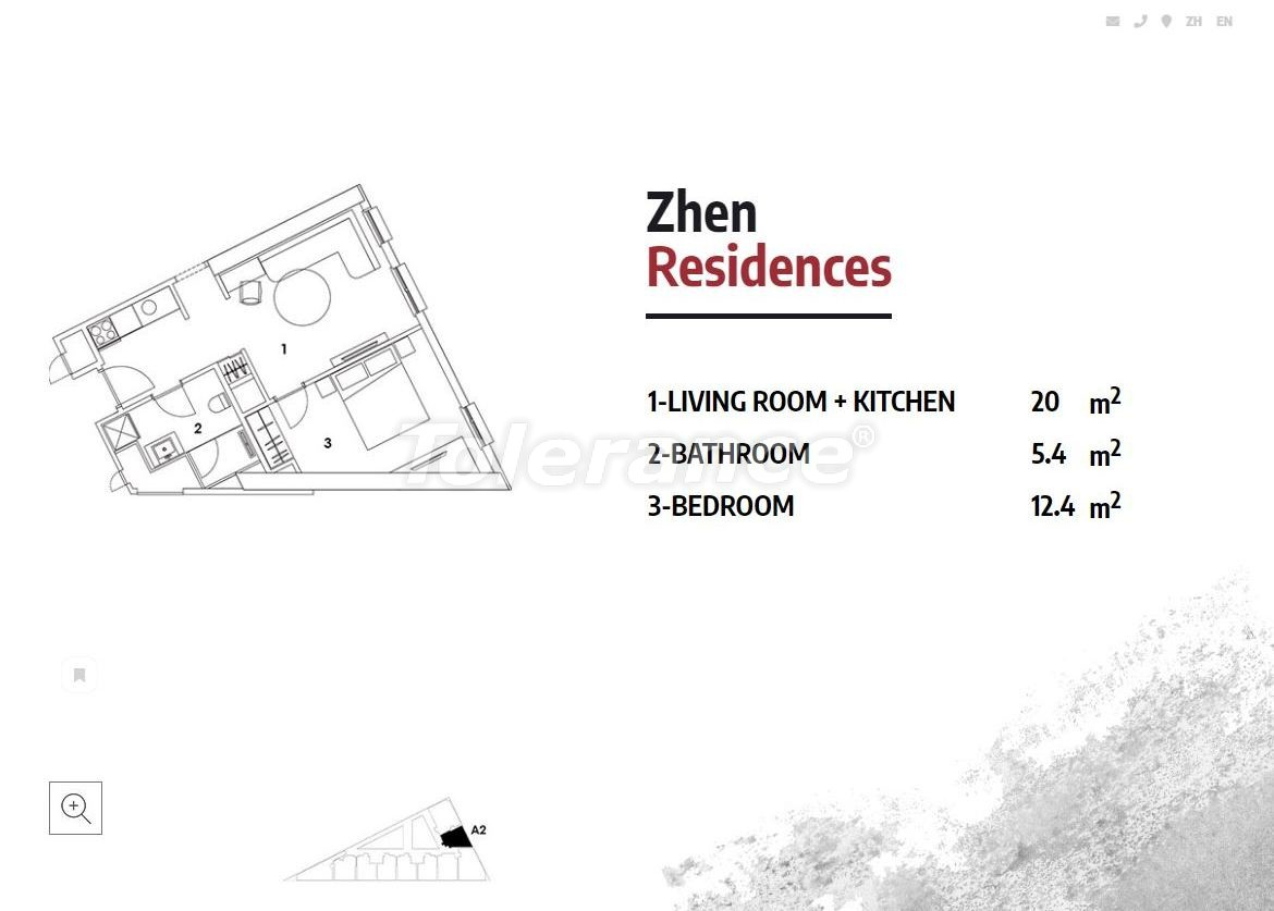 Apartments in Istanbul in a luxury residence hotel with a high rental guarantee - 23363 | Tolerance Homes