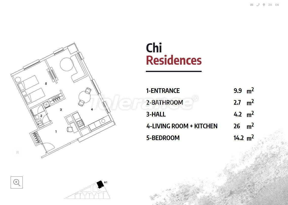Apartments in Istanbul in a luxury residence hotel with a high rental guarantee - 23362 | Tolerance Homes