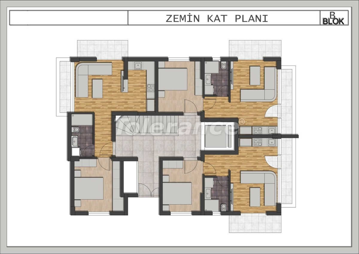 Luxury apartments in Liman, Konyaalti in a modern complex  from the developer - 23695 | Tolerance Homes