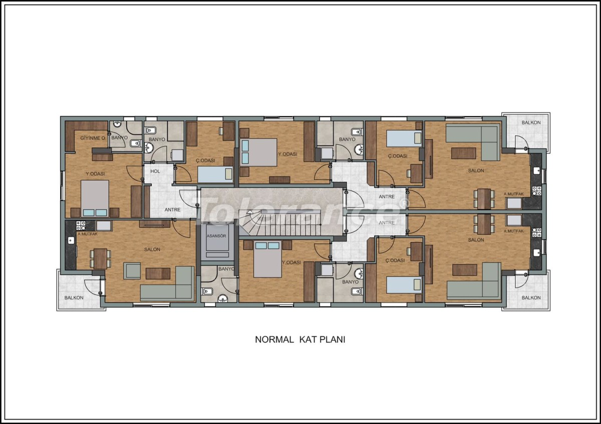Modern apartments in Liman, Konyaalti near the from a quality and reliable developer - 23728   Tolerance Homes