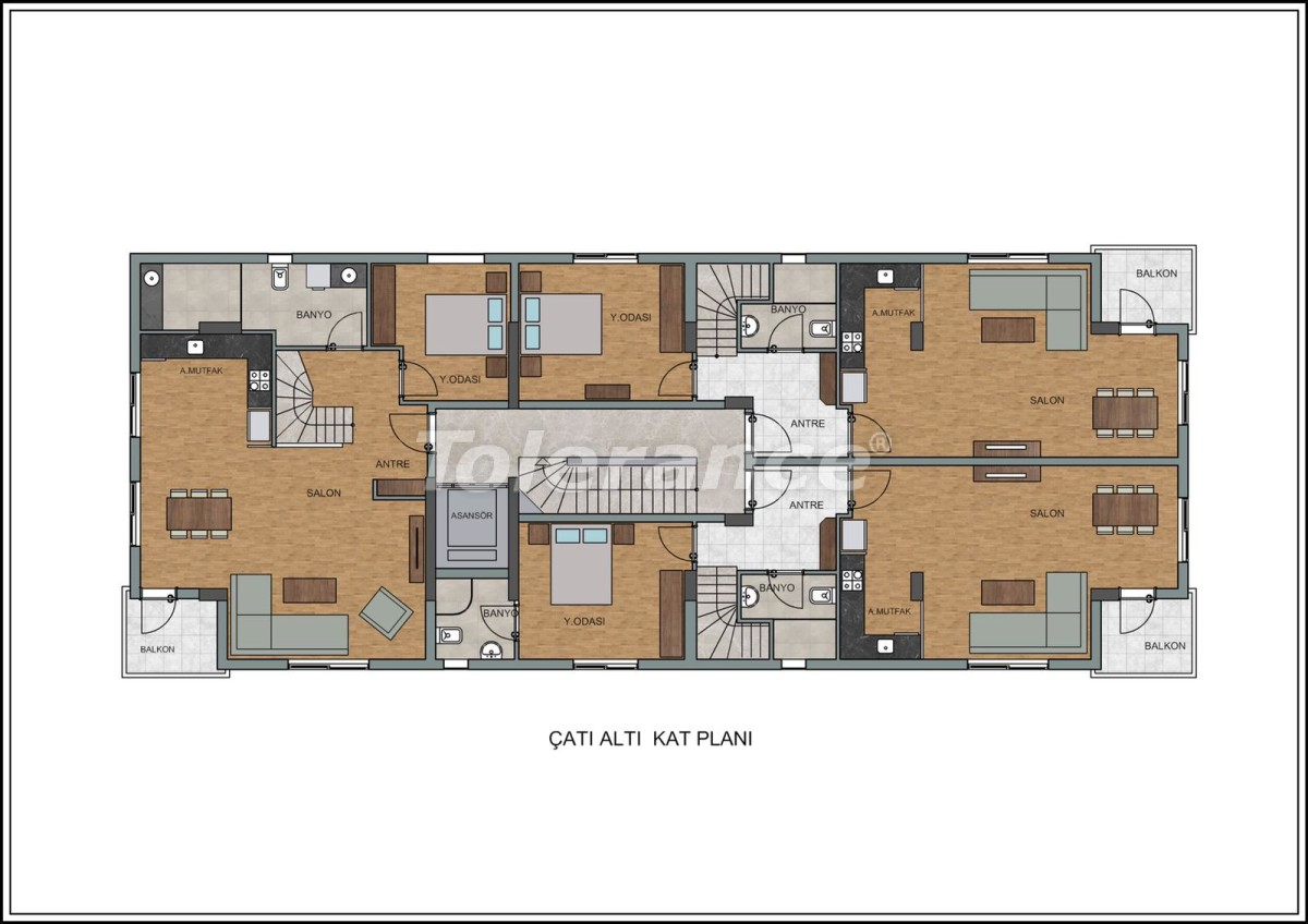 Modern apartments in Liman, Konyaalti near the from a quality and reliable developer - 23726   Tolerance Homes