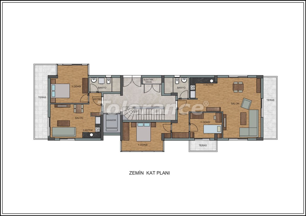 Modern apartments in Liman, Konyaalti near the from a quality and reliable developer - 23725   Tolerance Homes