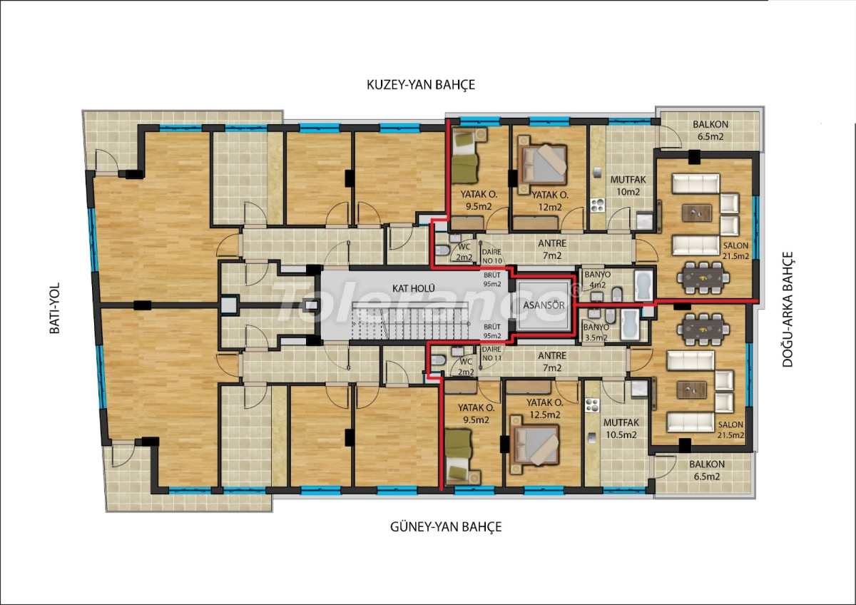 Modern apartmentsin the center of Antalya from a reliable developer with installments - 23907   Tolerance Homes