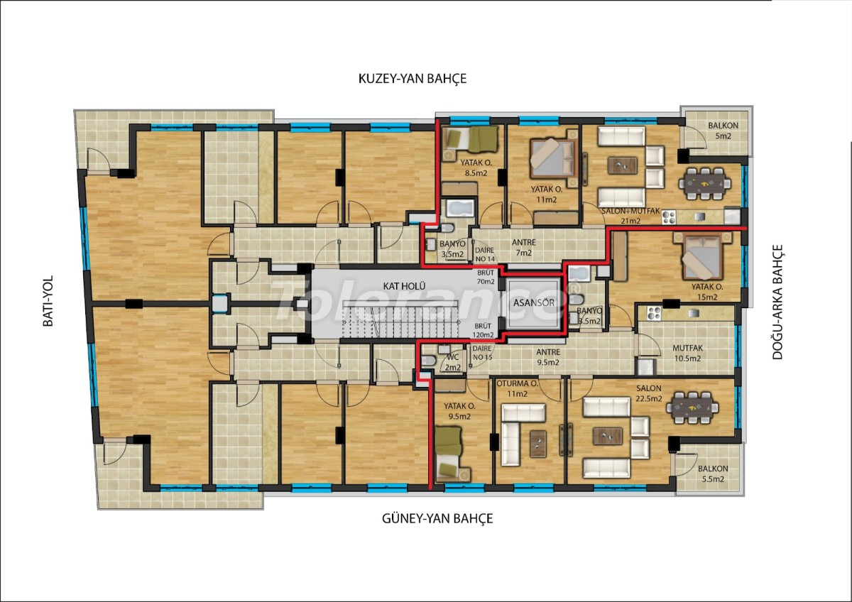 Modern apartmentsin the center of Antalya from a reliable developer with installments - 23908   Tolerance Homes
