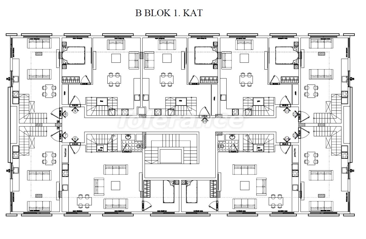 Luxury three-bedroom apartments in Kundu, Antalya near the sandy beach of Lara by installments - 24016 | Tolerance Homes