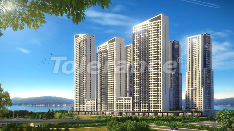 Spacious apartments in Istanbul by installments with direct sea, and lake view - 24080 | Tolerance Homes