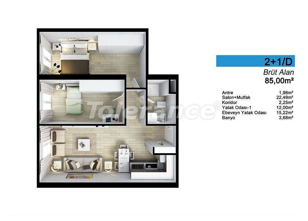 Spacious apartments in Istanbul by installments with direct sea, and lake view - 24094 | Tolerance Homes