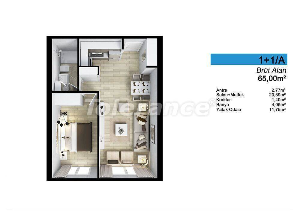 Spacious apartments in Istanbul by installments with direct sea, and lake view - 24065 | Tolerance Homes