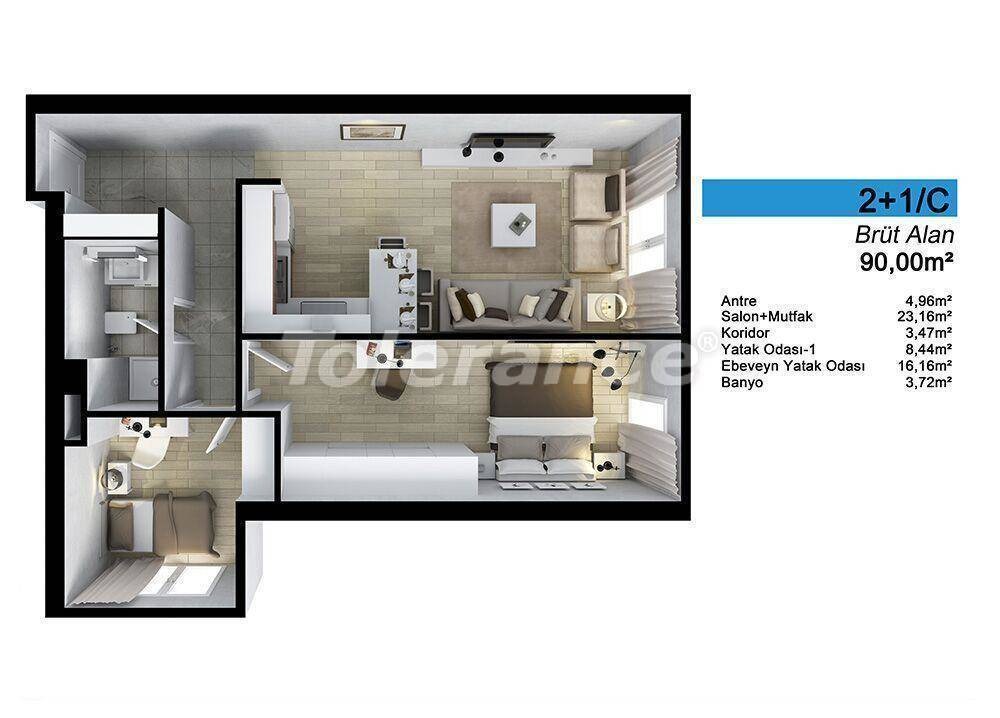 Spacious apartments in Istanbul by installments with direct sea, and lake view - 24070 | Tolerance Homes