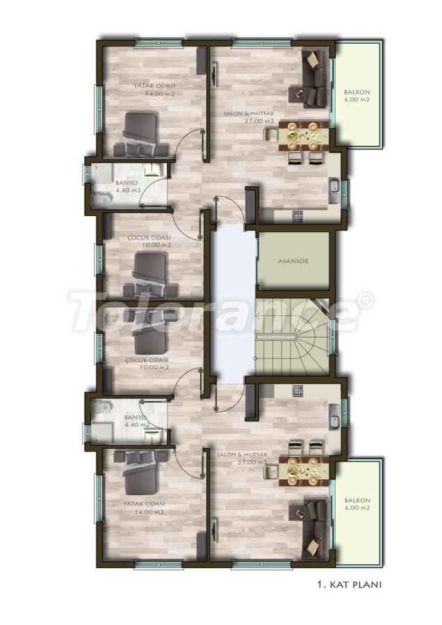 New two-bedroom apartments in Belek in a complex with a swimming pool - 24538 | Tolerance Homes