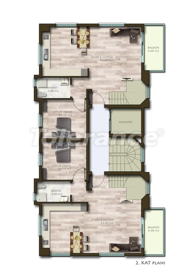 New two-bedroom apartments in Belek in a complex with a swimming pool - 24536 | Tolerance Homes