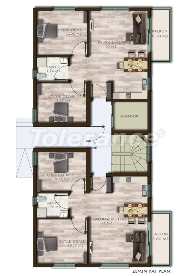 New two-bedroom apartments in Belek in a complex with a swimming pool - 24537 | Tolerance Homes