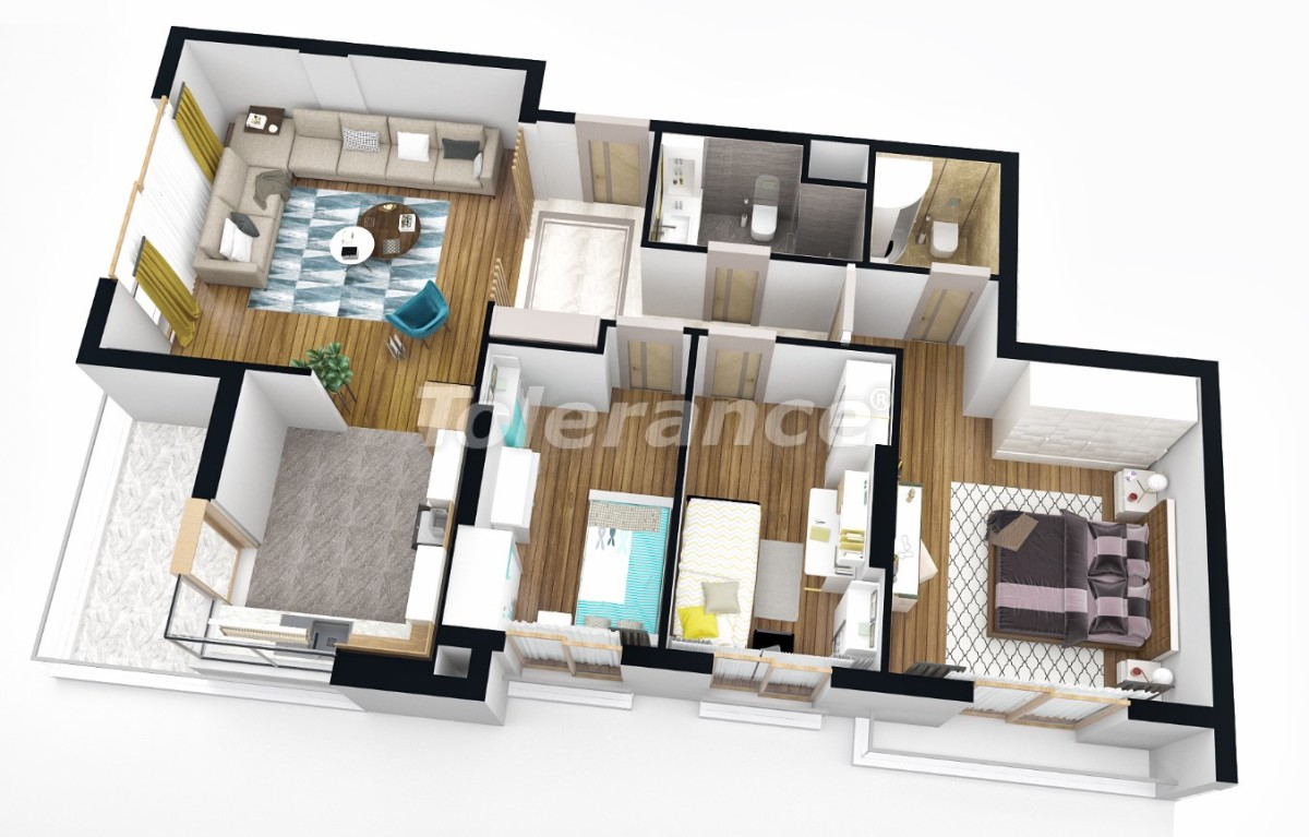 Luxury apartments in Antalya from a reliable developer with installment plan - 25166   Tolerance Homes