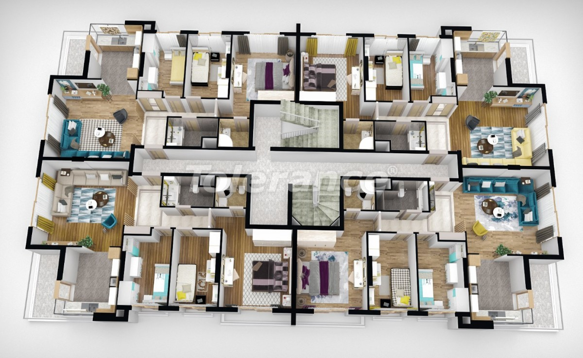 Luxury apartments in Antalya from a reliable developer with installment plan - 25167   Tolerance Homes