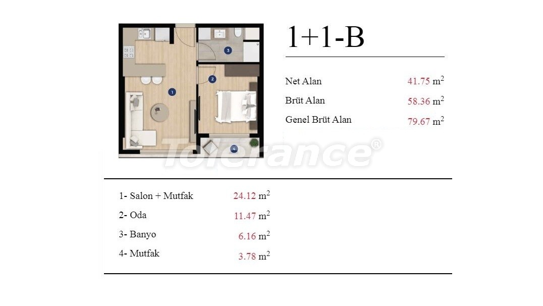 Modern apartments in Izmir from a developer in an elite complex with a rich infrastructure - 25197 | Tolerance Homes