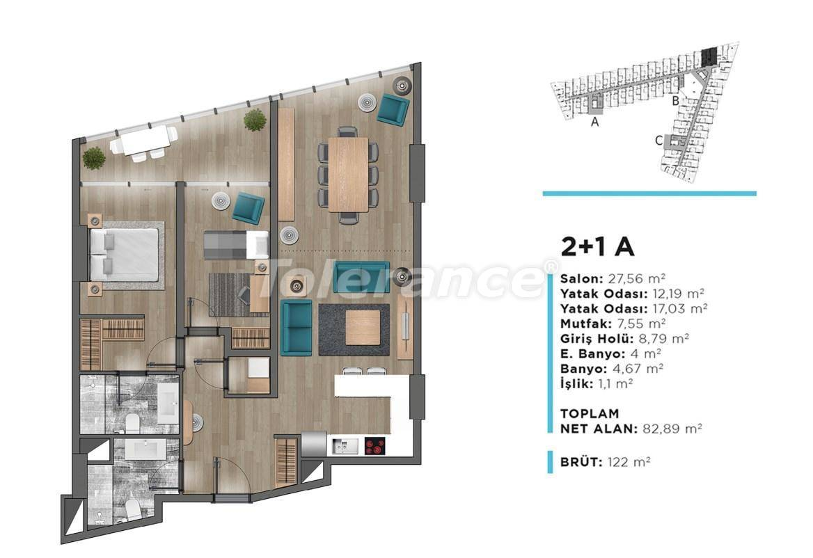 Modern apartments in Beylikduzu, Istanbul with panoramic view to the Marmara Sea - 26680 | Tolerance Homes