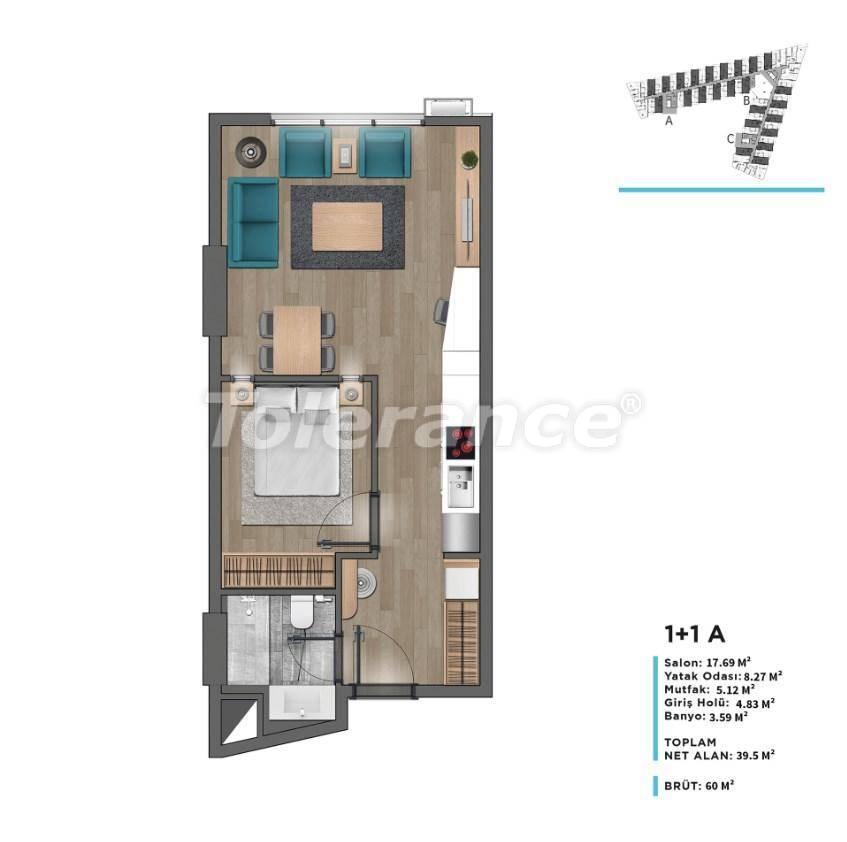 Modern apartments in Beylikduzu, Istanbul with panoramic view to the Marmara Sea - 26682 | Tolerance Homes
