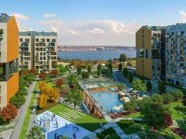 Modern apartments in Istanbul in a complex with rich infrastructure and sea view