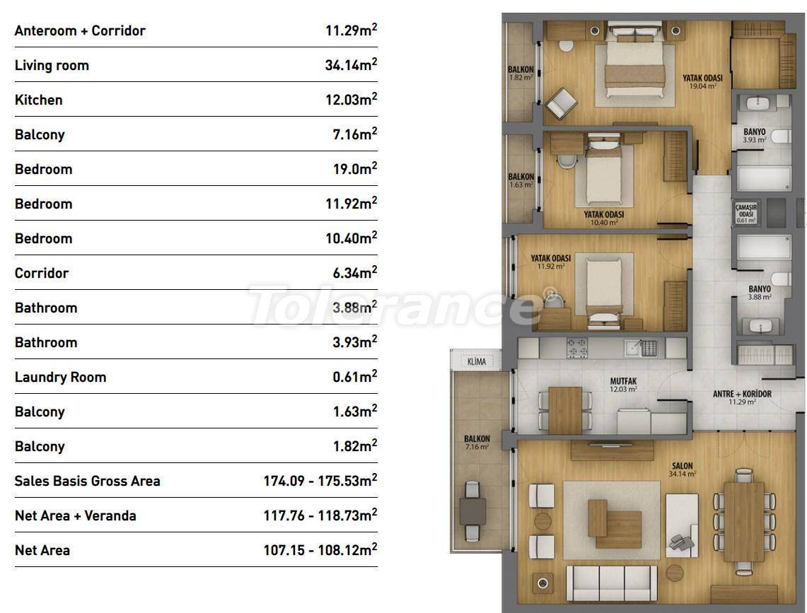 Modern apartments in Istanbul in a complex with rich infrastructure and sea view - 26942 | Tolerance Homes
