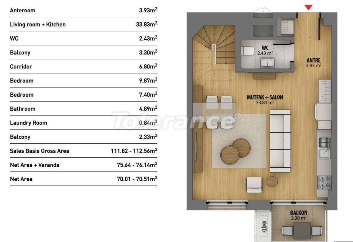 Modern apartments in Istanbul in a complex with rich infrastructure and sea view - 26941 | Tolerance Homes