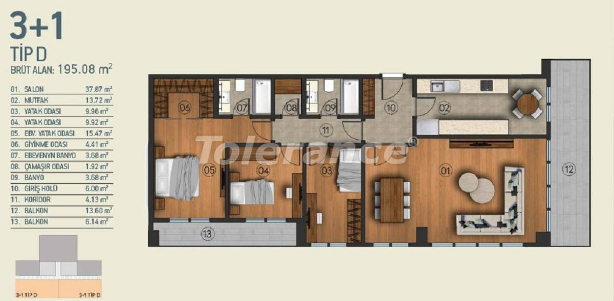 Modern apartments in Istanbul with a view of the Belgrade Forest in a complex with an indoor pool - 26960   Tolerance Homes