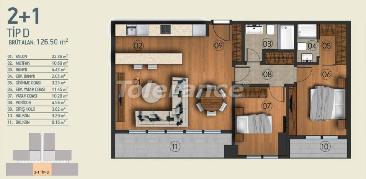 Modern apartments in Istanbul with a view of the Belgrade Forest in a complex with an indoor pool - 26955   Tolerance Homes