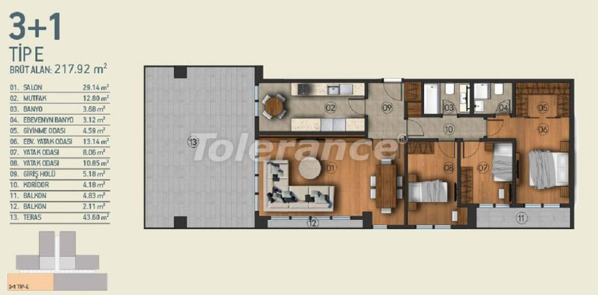 Modern apartments in Istanbul with a view of the Belgrade Forest in a complex with an indoor pool - 26961   Tolerance Homes